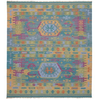 Norwell Wool Teal Area Rug