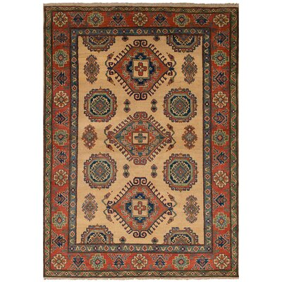 One-of-a-Kind Lesli Handmade Wool Cream Area Rug