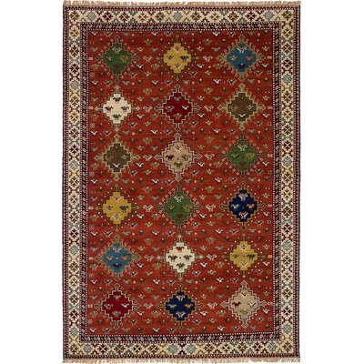 One-of-a-Kind Lesa Handmade Wool Dark Copper Area Rug