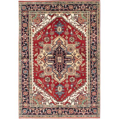 Lenita Hand-Knotted Wool Dark Copper/Dark Navy Area Rug