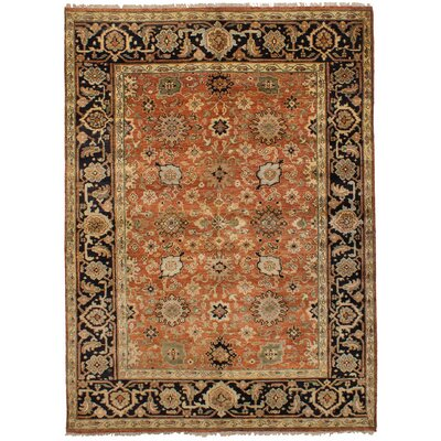 Lenita Hand-Knotted Wool Dark Copper Indoor Area Rug