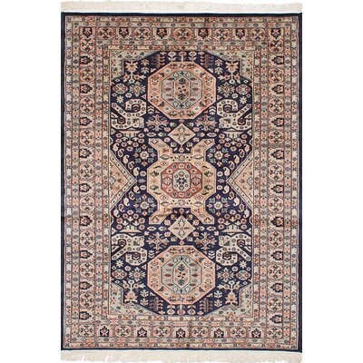 One-of-a-Kind Liah Handmade Wool Dark Navy Area Rug