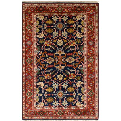 Lenita Hand-Knotted Wool Navy Blue Area Rug
