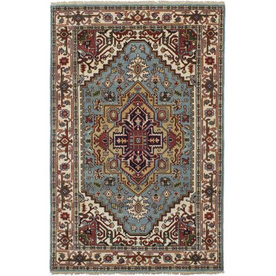 Lenita Hand-Knotted Wool Light Blue Area Rug