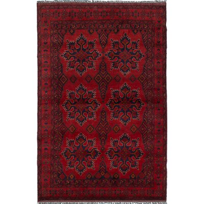 Lelia Hand-Knotted Wool Red Indoor Area Rug