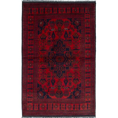 One-of-Kind Lelia Handmade Wool Red Area Rug