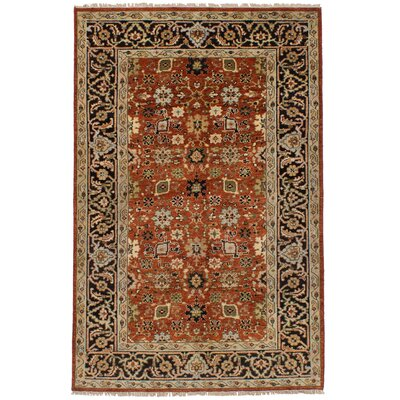 Lenita Hand-Knotted Wool Dark Copper Oriental Indoor Area Rug