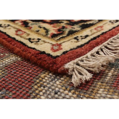 Lenita Hand-Knotted 100% Wool Dark Copper Indoor Area Rug