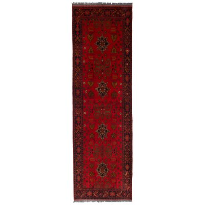 One-of-a-Kind Lelia Hadmade Wool Red Area Rug