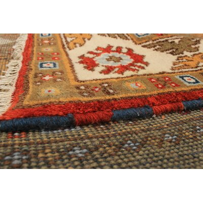 One-of-a-Kind Lesa Handmade Wool Brown Area Rug