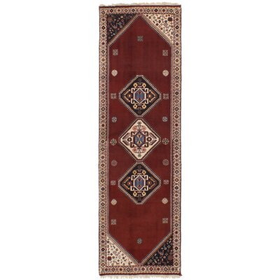 One-of-a-Kind Liara Handmade Wool Dark Red Area Rug