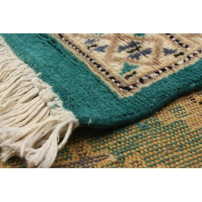 One-of-a-Kind Lela Handmade Wool Teal Area Rug