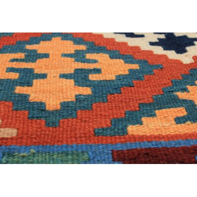 One-of-a-Kind Nyora Handmade Wool Blue Area Rug