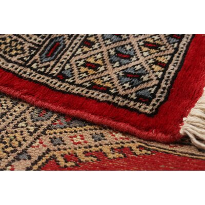 One-of-a-Kind Lela Handmade Wool Red Area Rug