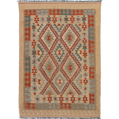 One-of-a-Kind Novalie Handmade Wool Cream Area Rug