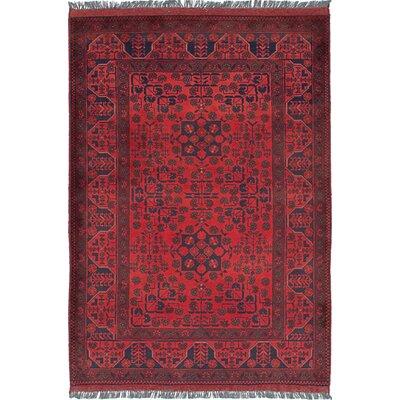 One-of-a-Kind Lelia Handmade Wool Red Area Rug
