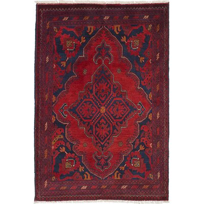 One-of-a-Kind Lelia Handmade Wool Dark Red Area Rug