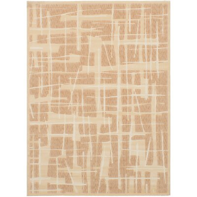 Casarez Ivory/Tan Abstract Area Rug