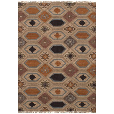 One-of-a-Kind Nakia Handmade Wool Tan Area Rug