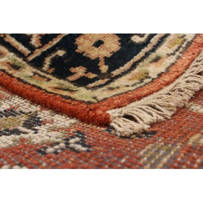Lenita Hand-Knotted Wool Dark Copper Area Rug