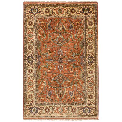 Lenita Hand-Knotted Rectangle Wool Copper Area Rug