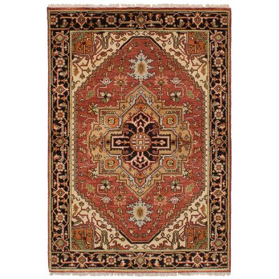 One-of-a-Kind Lenita Handmade Wool Dark Copper Area Rug
