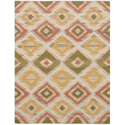 One-of-a-Kind Leonie Wool Cream Area Rug