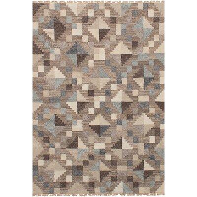 One-of-a-Kind Nakia Handmade Wool Gray/Tan Area Rug
