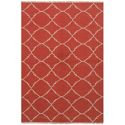 Arlinda Wool Dark Copper Area Rug