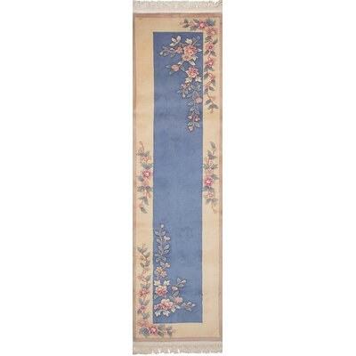 Link Hand-Knotted Wool Blue/Cream Area Rug