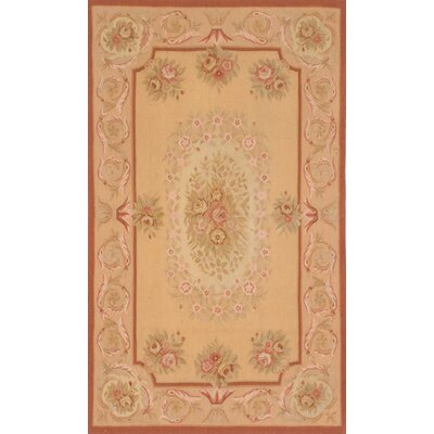 One-of-a-Kind Bateson Handmade Wool Light Orange Area Rug