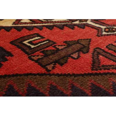 One-of-a-Kind Lesley Handmade Wool Red Area Rug