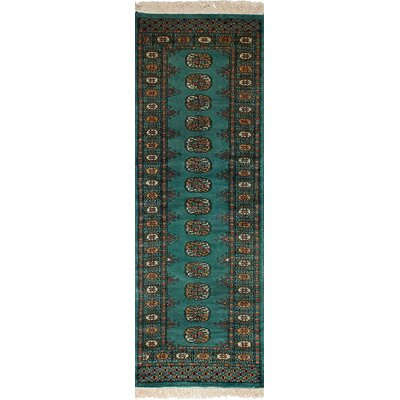 Leticia Hand-Knotted Wool Teal Area Rug