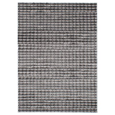 Faustine Black/Light Gray Area Rug