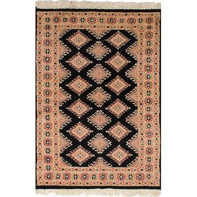 One-of-a-Kind Lela Handmade Wool Beige/Black Area Rug