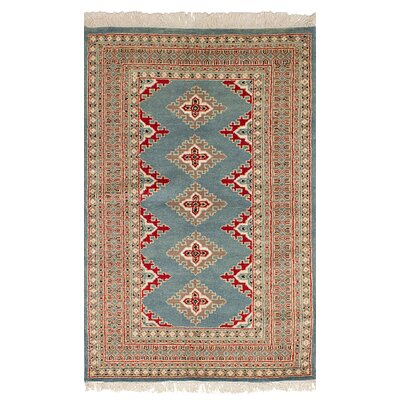 One-of-a-Kind Lela Handmade Wool Blue Area Rug