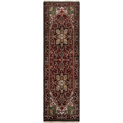 One-of-a-Kind Lexia Handmade Wool Red Area Rug