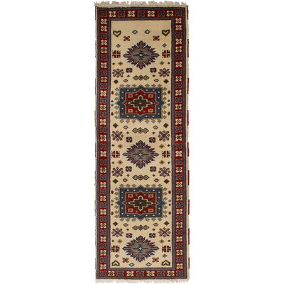 One-of-a-Kind Lesa Handmade Wool Cream Area Rug