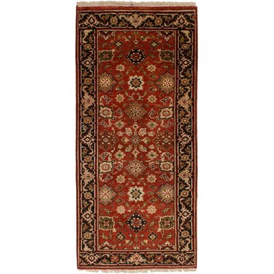 Lenita Hand-Knotted Wool Red Area Rug