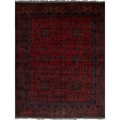 One-of-a-Kind Rosales Hand Knotted Wool Red Area Rug