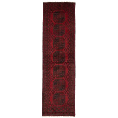 One-of-a-Kind Bridges Hand Knotted Wool Red Area Rug