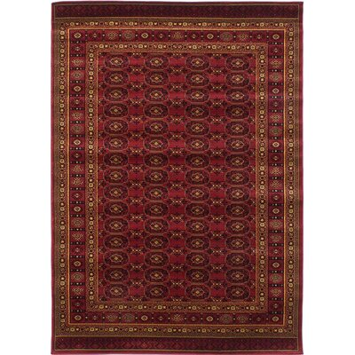 Prieto Dark Red Area Rug