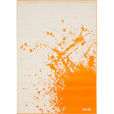 Griffeth Ivory/Orange Area Rug
