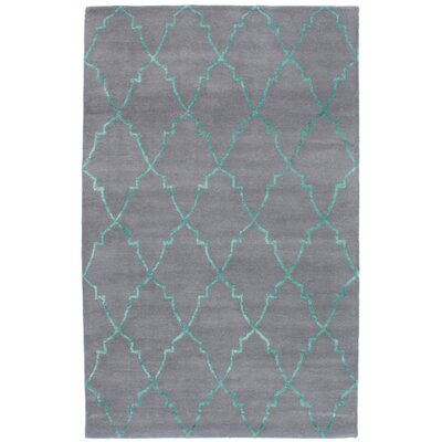 Helsley Hand-Tufted Gray Area Rug