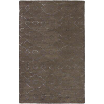 Helsley Hand-Tufted Dark Khaki Area Rug