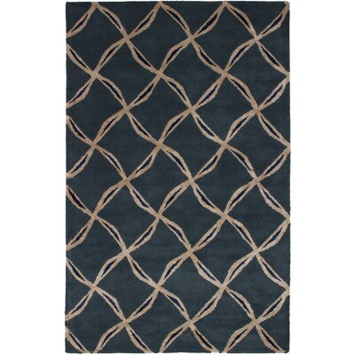 Howes Abstract Art Hand-Tufted Dark Gray Area Rug
