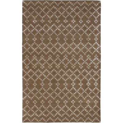 Mansell Abstract Art Hand-Tufted Brown Area Rug