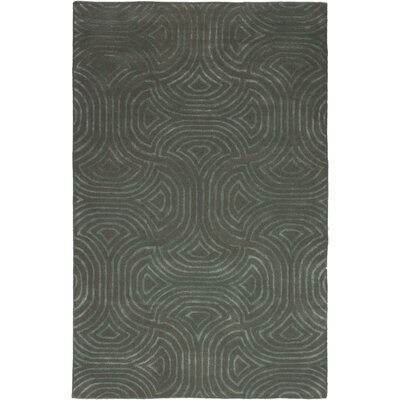 Haralson Abstract Art Hand-Tufted Gray Area Rug