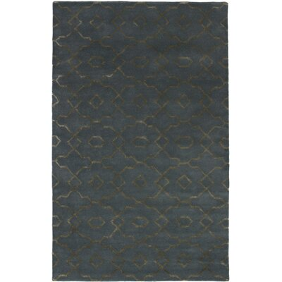 Harbaugh Hand-Tufted Dark Gray Area Rug