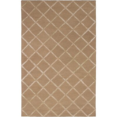 Hufford Hand-Tufted Tan Area Rug